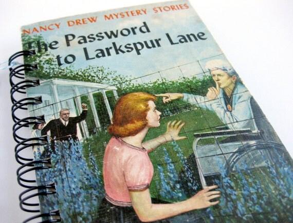 Nancy Drew Journal // Recycled Vintage Hardback // Password to Larkspur Lane