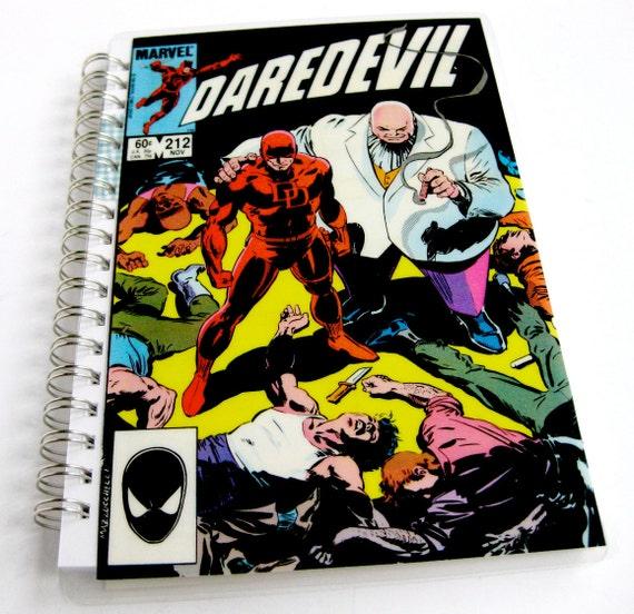 Daredevil Sketchbook & Notebook //  Recycled Vintage Comic