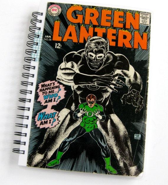 Green Lantern Sketchbook & Notebook //  Recycled Vintage Comic