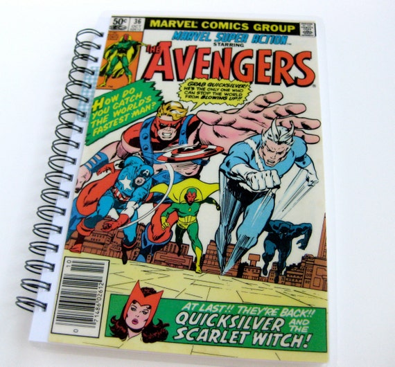 Avengers Sketchbook & Journal // Recycled Comic