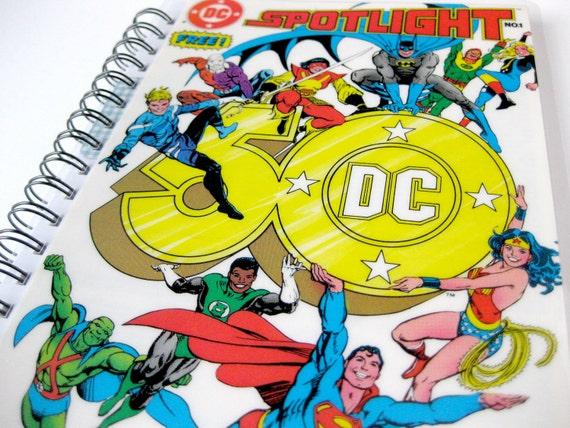 DC Comic Spotlight Sketchbook & Journal // Recycled Vintage Comic