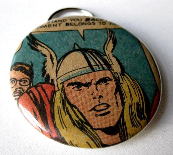 Thor Bottle Opener & Key Chain // Avengers // Recycled Vintage Comic