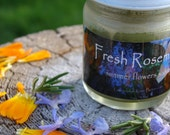 Fresh Rosemary summer flowers salve