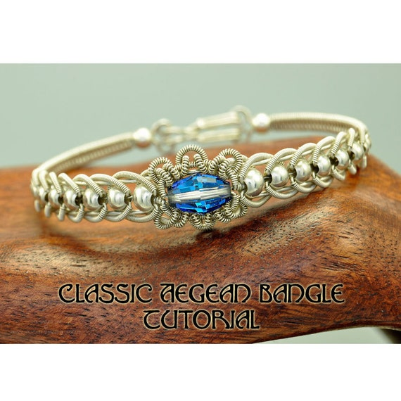 Classic Aegean Coiled Wire  Bangle - Wire Jewelry Tutorial Instruction PDF ebook
