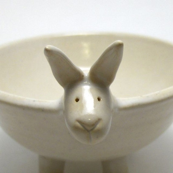 Bunny Bowl in Eggshell White