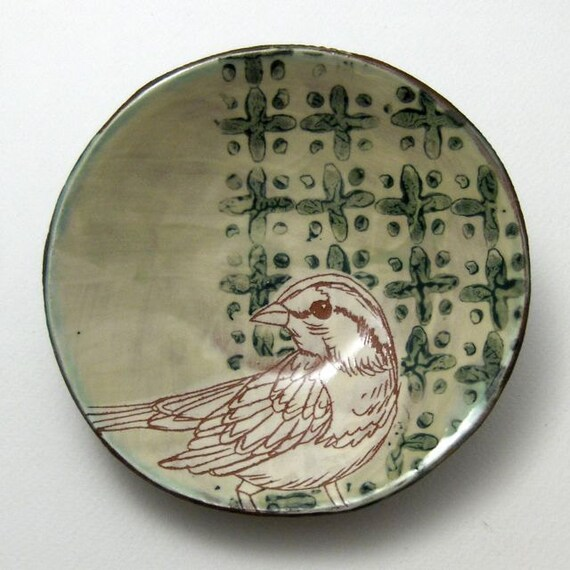 Small Bowl with Bird - OOAK