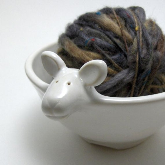 Lamb Shaped Ceramic Yarn Bowl