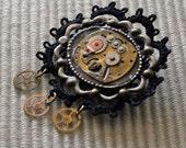 Widow's Weeds steampunk brooch