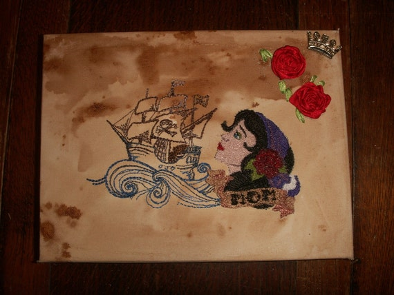 Items similar to ROCKABILLY Tattoo Sailor Jerry Gypsy ...