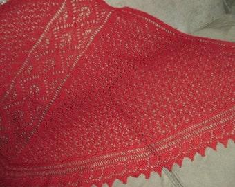 THE SECRET GARDEN Lace Shawl pattern in pdf by Karen Walker