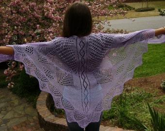 DIAMONDS AND DEWDROPS Lace Shawl Pattern