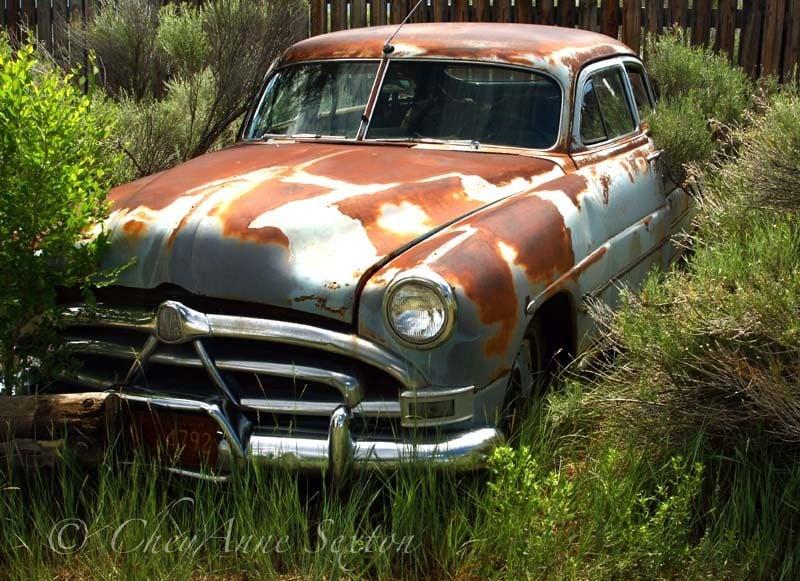 old car art hudson vintage rusty car of long by newmexicomtngirl. Black Bedroom Furniture Sets. Home Design Ideas