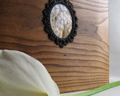 Large wedding album OOAP  from upcycled wood can be personalized
