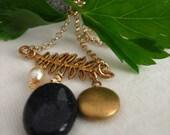 A Leaf like No Other..vintage necklace