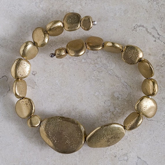 Bronze River Rock Bracelet