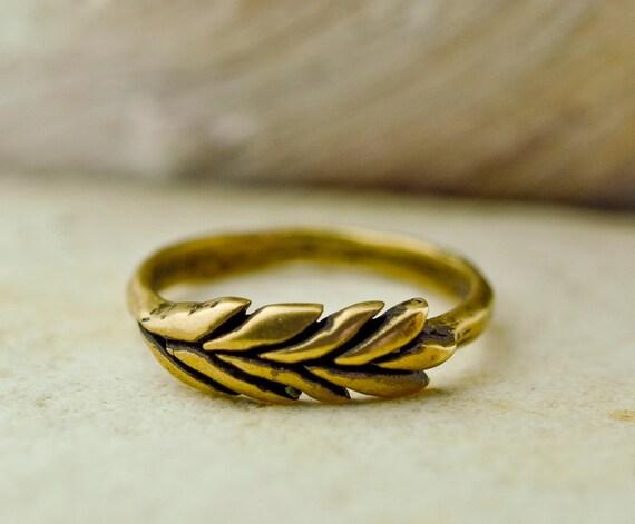 RESERVED, Bronze Wheatgrass Ring