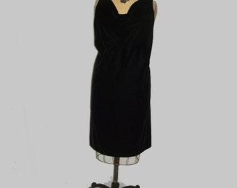 Classic Black Velvet Audrey Dress