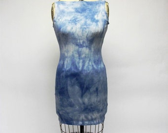 CUSTOM Fitted Shibori tie dyed Dress YOUR SIZE