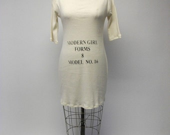 CUSTOM Dressform Print Cotton Dress YOUR SIZE