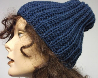 Handknit hipster  Sock Hat