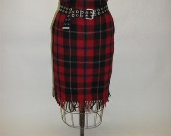 Tartan Plaid Blanket Skirt