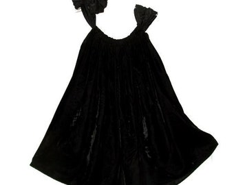 Black Velvet Swing Dress/Jumper