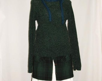 Forest Green Loose Weave Elf Sweater