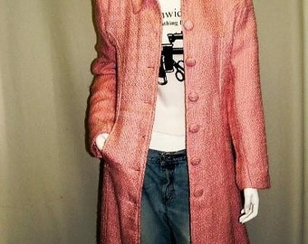 Cotton Candy Boucle Coat