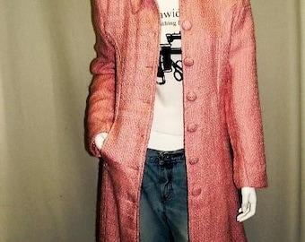 Cotton Candy Boucle Coat