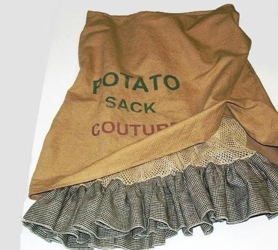 CUSTOM Potato Sack Skirt YOUR SIZE