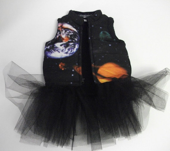 Sale kid 39 s solar system tutu ski vest for Solar system fleece fabric