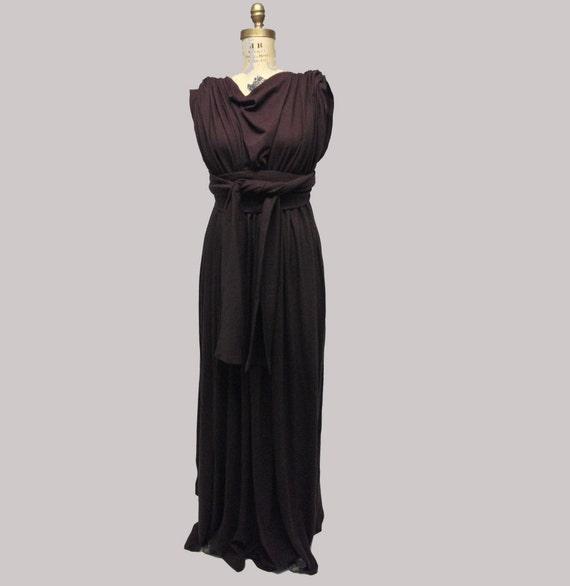 CUSTOM draped Maxi Dress YOUR SIZE