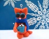 Emma the Hot Chocolate Kitty ornament