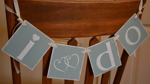 S A L E  - - I DO  -  SPARKLING LETTERS, Wedding Banner, Sign Decoration - parties or showers