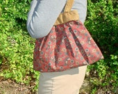 Upcycled Pleated Bag - Asian Butterflies