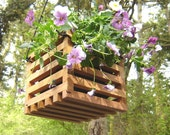 Hanging planter, small, made from recycled cedar wood