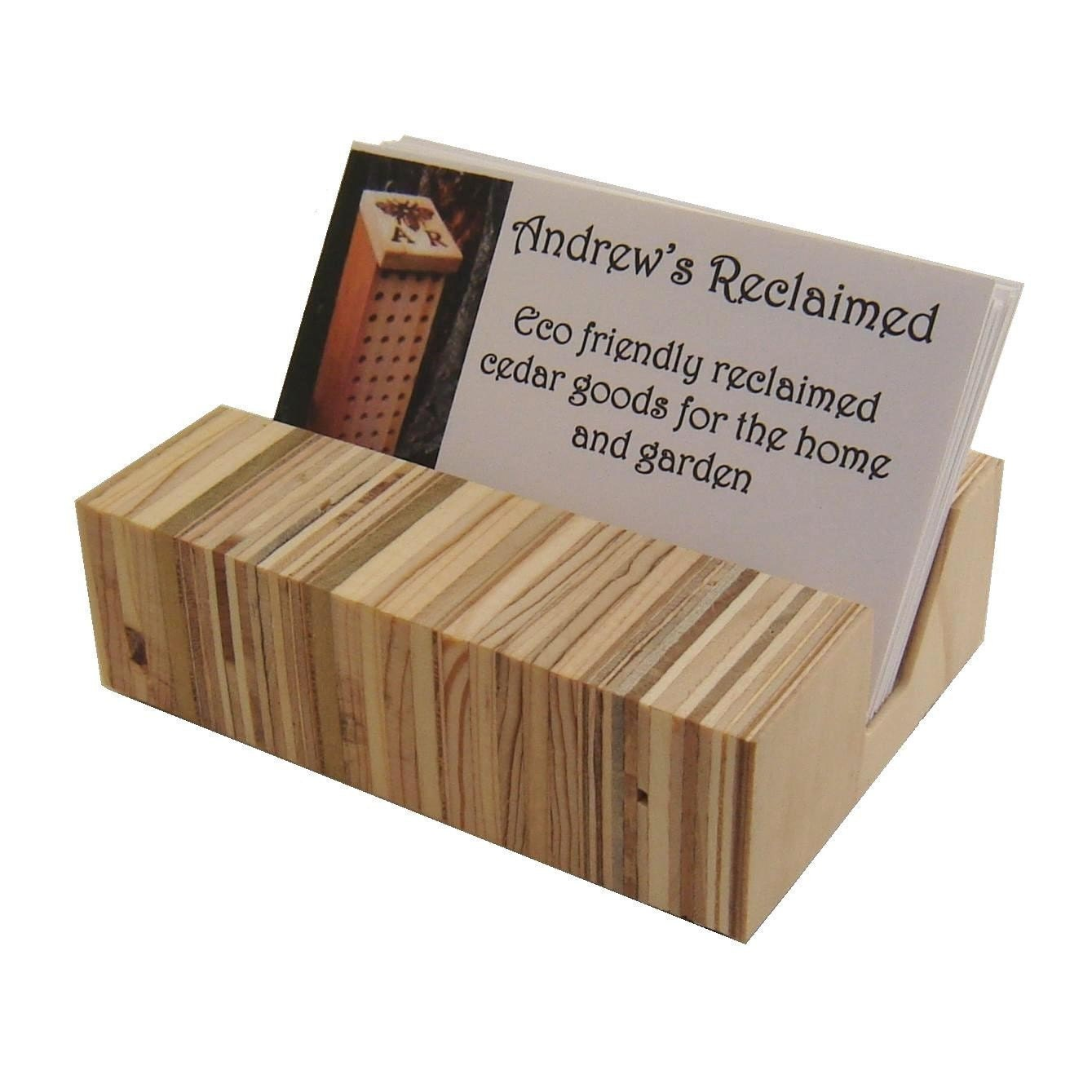 Wooden Business Card Holder Eames Era Inspired by