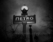 Metro Deux - 6x6in Black and White print