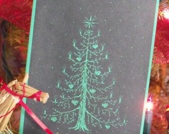 Christmas tree card 20 cards per pkg