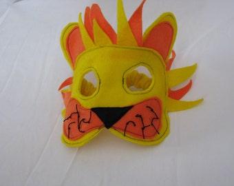 felt lion mask