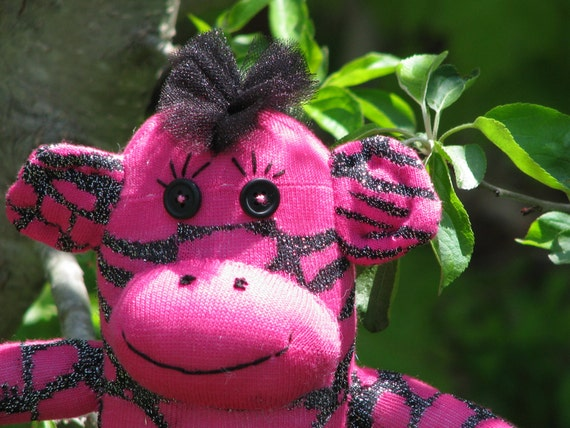 Cute little pink punk monkey