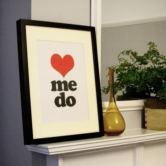 Love Me Do - unframed A4 print \/ poster (8.25 x 11.7 inches)