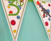 Dino Party Pennant Banner