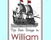 Pirate Bookplates - Set of 12