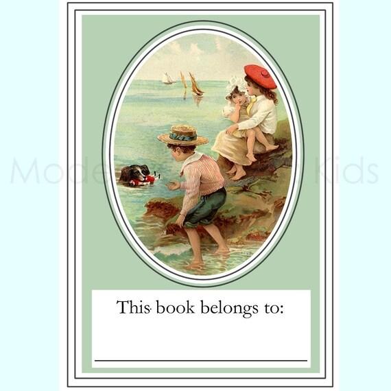 Vintage Seashore Bookplates - Set of 12