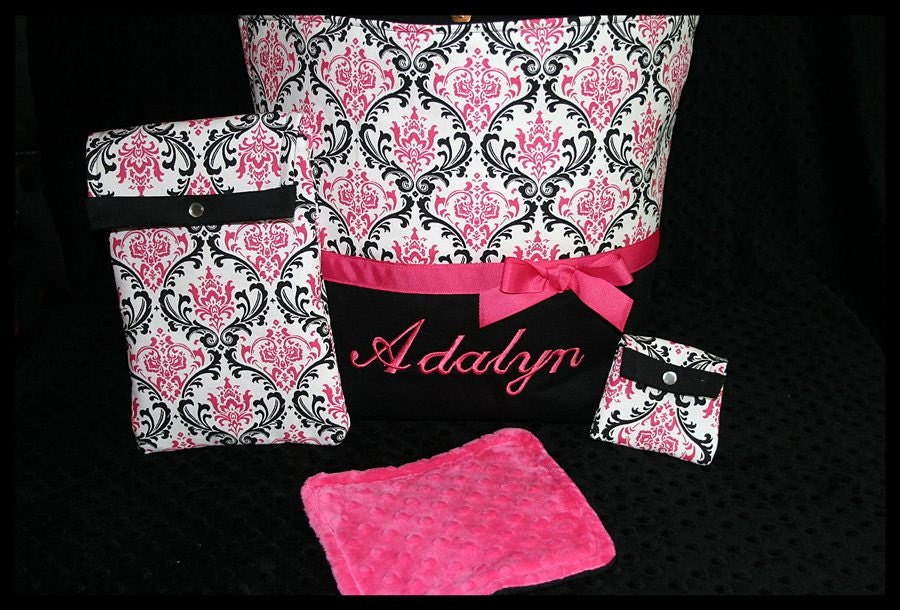Personalized Baby Girl Diaper Bag With Wipes By