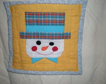 Quilted Wall Hanging  - Snowman
