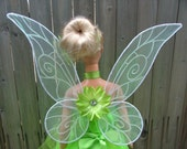 Child sized iridescent Tinkerbell like fairy pixie wings