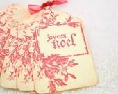 French Paris Christmas Gift Tags - Joyeux Noel