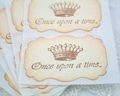 Once Upon a Time Stickers Crown Fairytale Sticker Seals Wedding